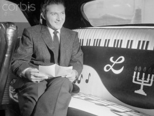 Pianist Liberace Inside His Car